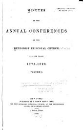 Minutes of the Annual Conferences ...: For the Years 1773-1839 ...