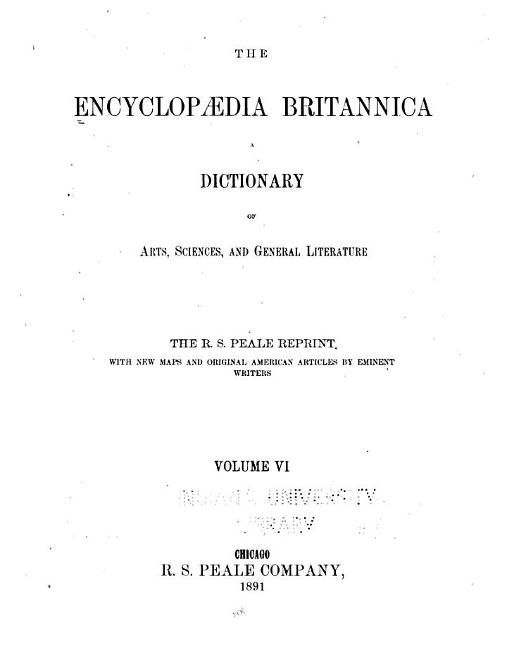 The Encyclopædia Britannica
