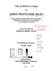 The Complete Works of James Whitcomb Riley: Volume 3