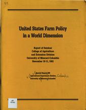 United States Farm Policy in a World Dimension PDF