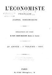 L'Économiste français: journal hebdomadaire, Volume1;Volume23