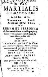 Epigrammaton libri XII ...