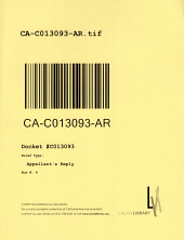 California. Court of Appeal (3rd Appellate District). Records and Briefs: C013093, Appellant's Reply