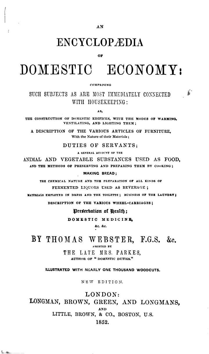 An Encyclopædia of Domestic Economy ...