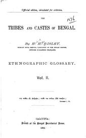 The Tribes and Castes of Bengal: Part 1, Volume 2