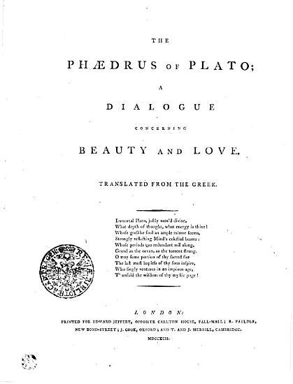The Phaedrus of Plato PDF