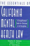 The Essentials Of California Mental Health Law Book PDF