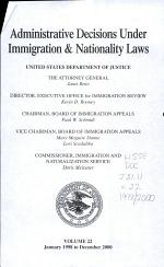 Administrative Decisions Under Immigration & Nationality Laws