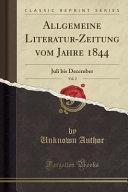 Allgemeine Literatur Zeitung vom Jahre 1844  Vol  2 PDF