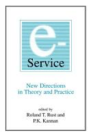 E Service  New Directions in Theory and Practice PDF
