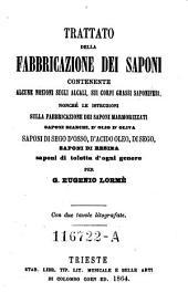 Trattato della fabbricazione dei saponi (etc.) Con due tavole litografate