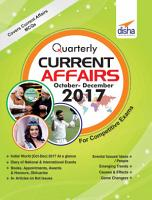 Quarterly Current Affairs   October to December 2017 for Competitive Exams Vol 4 PDF