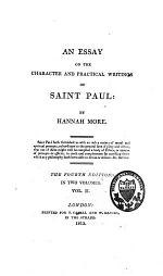 An Essay on the Character and Practical Writings of Saint Paul