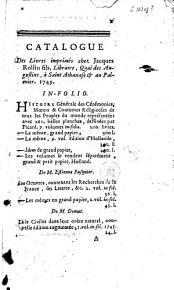 Catalogue des livres imprim  s chez Jacques Rollin fils PDF