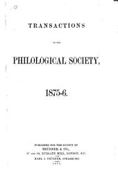Transactions of the Philological Society
