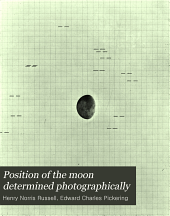 Position of the moon determined photographically: Volume 72