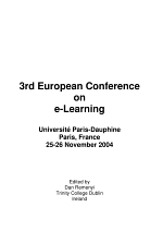 ECEL2004-3rd European Conference on E-Learning