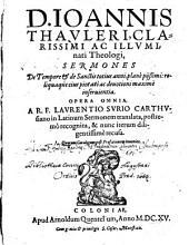 Thauleri Opera omnia reliqua