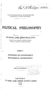 Principles of government. Monarchical government