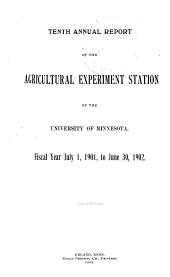 Report of the Dept. of Agriculture and of the Agricultural Experiment Station of the University of Minnesota