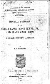 Mineral Deposits of the Cerbat Range, Black Mountains, and Grand Wash Cliffs, Mohave County, Arizona
