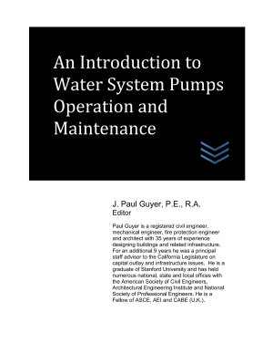 An Introduction to Water System Pumps Operation and Maintenance