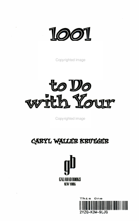 1001 More Things to Do with Your Kids PDF