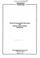 Manual of Oceanographic Observations and Pollutant Analyses Methods  MOOPAM  PDF