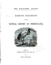 Barton's Fragments of the Natural History of Pennsylvania