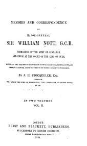 Memoirs and Correspondence of Major-General Sir William Nott: Volume 2