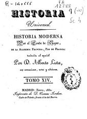 Historia moderna: Volumen 14