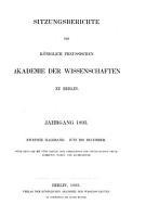 Sitzungsberichte der K  niglich Preussischen Akademie der Wissenschaften zu Berlin PDF