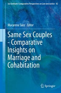 Same Sex Couples   Comparative Insights on Marriage and Cohabitation PDF