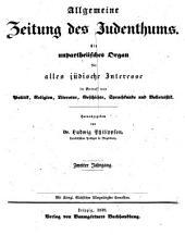 Allgemeine Zeitung des Judenthums: Band 2