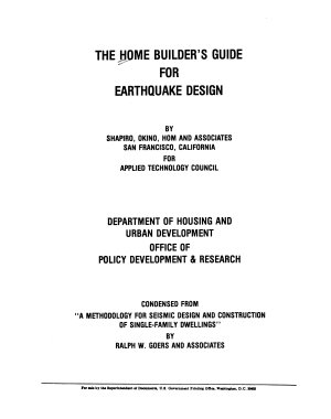 The Home Builder s Guide for Earthquake Design