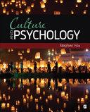 Culture and Psychology PDF