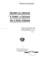 Regulamento para a administracao do patrimonio e da contabilidade geral da Provincia de MoHcambique PDF