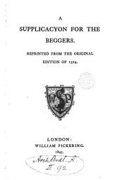 A supplicacyon for the beggers [by S. Fish].