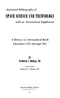 Annotated Bibliography of Space Science and Technology with an Astronomical Supplement PDF