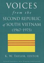 Voices from the Second Republic of South Vietnam (1967–1975)