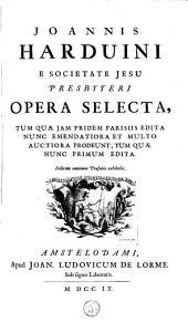Opera selecta /Hardouin, Jean