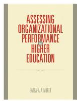 Assessing Organizational Performance in Higher Education PDF