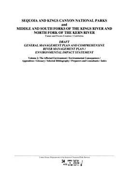 Sequoia and Kings Canyon National Parks and Middle and South Forks of the Kings River and North Fork of the Kern River  Tulare and Fresno Counties  California PDF