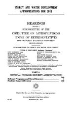 Energy and Water Development Appropriations for 2011 PDF