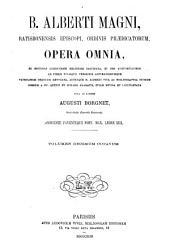 B. Alberti Magni Opera omnia: Volume 18