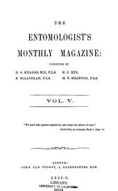 The Entomologist's Monthly Magazine: Volume 5