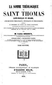 La Somme théologique de Saint Thomas: Volume7