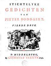 Stichtelyke gedichten van Pieter Boddaert