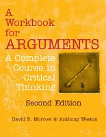 A Workbook for Arguments  Second Edition PDF