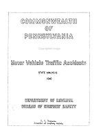 Motor Vehicle Traffic Accidents